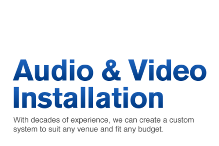 VIDEO & AUDIO INSTALLATIONS-txt